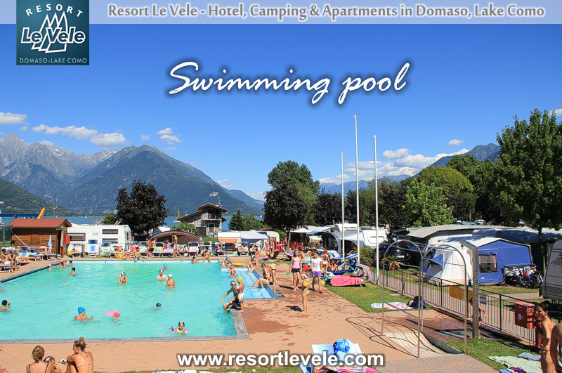 Camping mit Schwimmbad Domaso Comer See